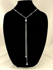 One Dozen Wholesale Ornate Y Necklaces with Silver Beads NWT #N2202-12