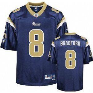 NFL Jersey Los Angeles St.Louis Rams Sam Bradford 8 Jersey Navy Football Premier