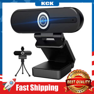 4K Webcam with Microphone USB Webcam 1080P for Video Calling with Privacy Cover