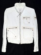 Baby Phat Jean Co White Cotton Corduroy Womens Jacket w/ Multiple Pockets  Sz S
