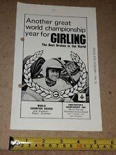 GIRLING BRAKES / JACK BRABHAM / F1 ADVERT-CUTTING (circa 1966)
