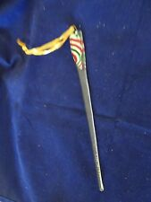 """HAND MADE GLASS CHRISTMAS TREE ICICLE ORNAMENT-8"""" LONG-PEPPERMINT TOP-NEW"""