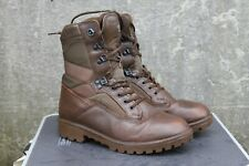 More details for genuine surplus british military boots yds leather fabric brown