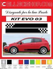 ADESIVI FIAT PUNTO, ABARTH, EVO GRANDE PUNTO FASCE LATERALI KIT EVO 03