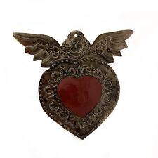 Coeur ange ex-voto rouge mexique