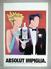 Absolut Vodka - Absolut Impiglia PRINT AD - 1994 ~~ Giancarlo Impiglia