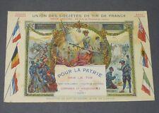 CPA CARTE POSTALE GUERRE 14-18 PATRIOTIQUE UNION SOCIETES DE TIR DE FRANCE 1915