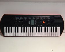 Vintage Casio SA-76 Mini 44-Key Portable LC Display Orange Keyboard