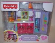 Loving Family Laundry Room Dollhouse Furniture Washer Dryer Iron Vacuum NEW