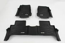 First + Second Row Floor Mats in Black for 2015 - 2016 Chevy Colorado Crew Cab