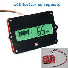 LCD Indicateur Testeur de Capacité Capteur Pour 12V - 48V Lithium Batterie Fr