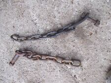 Ford 8N tractor Original bottom 3pt hitch lift arm sway chains chain bolts bolt