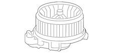 Genuine Toyota Blower Motor 87103-60400