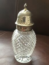 Antique Silver & Glass Pepper Pot - J & P London 1911