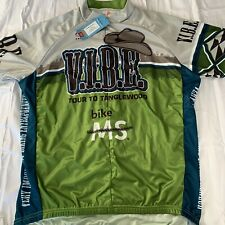 Bike MS Tour To Tanglewood Biking Jersey New With Tags Mens XL Short Seeves
