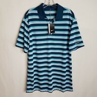 NEW NIKE GOLF DRI-FIT MENS POLO SHORT SLEEVE BLUE SHIRT SIZE MEDIUM TPB16P