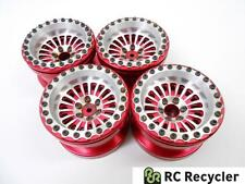 Four (4) Integy C26705RED Billet 18 Spoke 2.2 Beadlock Wheels 1/10 Scale Crawler