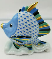 """ROOSTER COCKY Blue Fishnet Herend Hungary 4.25/"""" NEW NEVER SOLD 5014//VHB-15-E98"""