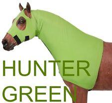 Tough-1 Fleece Lined Lycra Mane Stay Hood  --HUNTER GREEN  --SMALL  500-800 LBS