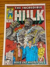 INCREDIBLE HULK #346 VOL1 MARVEL COMICS LAST MCFARLANE AUGUST 1988