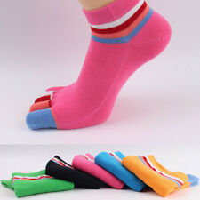 5 Pairs Women Cotton Toe Socks Five Finger Socks Breathable Sports Ankle Low Cut