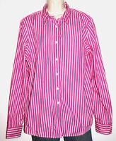 Lauren Ralph Lauren Long Sleeve Striped Cotton Button-Down Striped Shirt Size 16