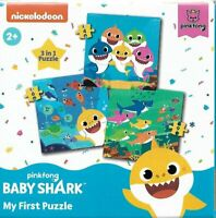 Nickelodeon Pinkfong Baby Shark My First Puzzle 3 in 1 Kids Game
