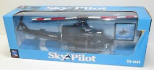 New Ray Sky Pilot Bell 412 LAPD Die Cast Helicopter 1/48 **