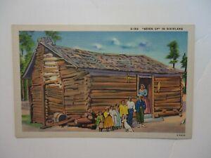 Vintage Postcard Dixieland Black Family and Shack