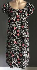 NWT Black/White/Pink/Coral Floral Print TARGET Fluter Sleeve Shift Dress Size 8