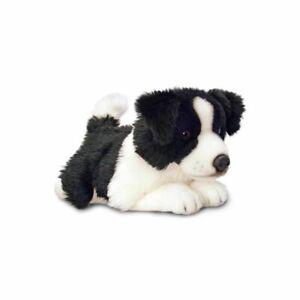 Korimco 25cm Border Collie Lil Pup Kids Soft Plush Stuffed Toy 3y+ Black
