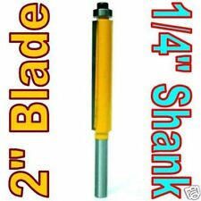 "1 pc 1/4"" SH 2"" Blade Extra Long Flush Trim Router Bit sct-888"