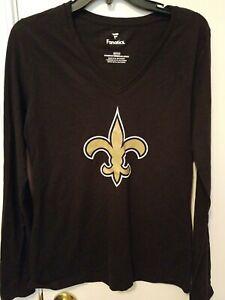 New Orleans Saints women's shirt size small NWT by Fanatics NFL team apparel $30