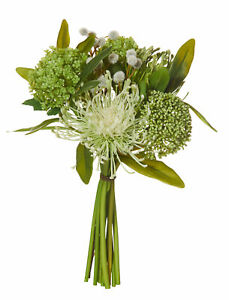Rogue Mixed Native Green Artificial Flowers Fake Bouquet for Weddings Decor