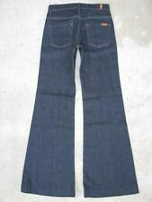 7 For All Mankind Ginger jeans Sz 25 Classic Rise Wide Leg Flare Dark