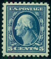 US #428 5¢ blue, og, NH, XF/Superb+, Miller certificate