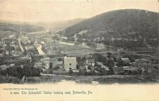 POTTSVILLE PA~THE SCHUYLKILL VALLEY LOOKING EAST~1908 ROTOGRAPH PHOTO POSTCARD