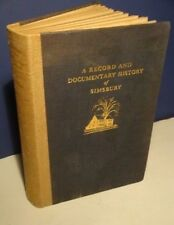 1931 History of Historic Simsbury CT-A Record & Documentary-RARE-Limited-1st