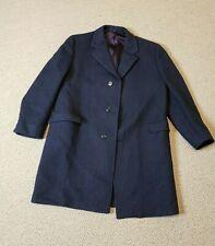 Hickey Freeman Mens Wool Overcoat Heavy Vintage Wool