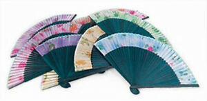 Sheer Cloth Hand Fan (Set of 10 Pieces)
