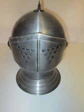"""Vintage Ice Bucket Medieval Knight's Armor Helmet Shaped Ice Bucket 14 1/2"""" tall"""