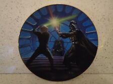 More details for star wars  hamilton collection final duel darth vader vs luke skywalker plate