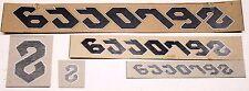 Genuine NOS Serotta Ultra Thin Bike Frame Decals OEM Black / White Stickers