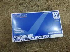 Powder free vinyl examination gloves M (100)