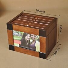 Wooden Album Photo Box Cool Unique Pictures Holder Decorative House Accessories