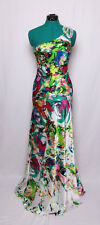NIGHT MOVES BY ALLURE WHITE WATERCOLOR BEADED SEQUINS PROM FORMAL GOWN DRESS 2