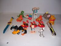 Vintage Lot of McDonald's Burger King Toys Figures Winnie the Pooh Dumbo &Others