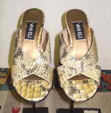 Women's Van Eli Faux-Reptile Embossed Leather Wedge Slide ADORABLE Sz. 7.5M