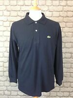 BNWT LACOSTE MENS UK M NAVY LONG SLEEVE POLO SHIRT RRP £85.00