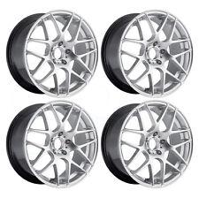 18x8.5 Concave P40 Style 5x120 35 Hyper Silver Wheel Rim New Inch Car set(4)